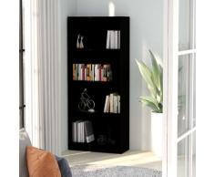 vidaXL Bibliothèque à 4 niveaux Noir 60x24x142 cm Aggloméré
