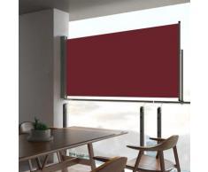 vidaXL Auvent latéral rétractable de patio 80x300 cm Rouge