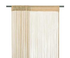vidaXL Rideau en fils 2 pcs 140 x 250 cm Beige