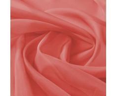 vidaXL Tissu de rideau 1,45 x 20 m Rouge