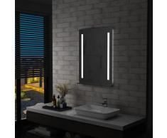 vidaXL Miroir mural à LED pour salle de bains avec étagère 60x80 cm