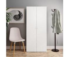 vidaXL Armoire à chaussures Blanc et chêne sonoma 80x35,5x180 cm