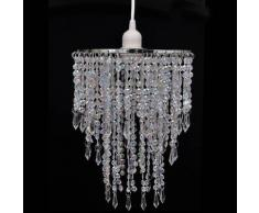 vidaXL Lustre suspendu en cristal 22,5 x 30,5 cm