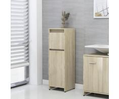vidaXL Armoire de salle de bain Chêne sonoma 30x30x95 cm Aggloméré