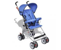 vidaXL Poussette pour bébé bleue