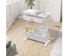 vidaXL Porte-revues Melrose Blanc