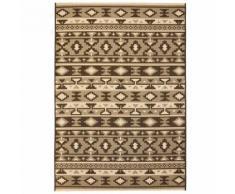vidaXL Tapis extérieur/intérieur Style sisal 140x200cm Design ethnique