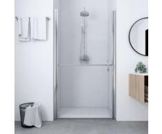 vidaXL Porte de douche Verre trempé 91x195 cm