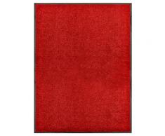 vidaXL Paillasson lavable Rouge 90x120 cm