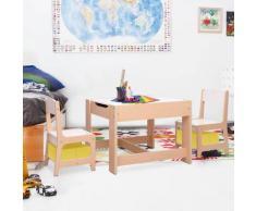 vidaXL Table pour enfants avec 2 chaises MDF