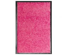 vidaXL Paillasson lavable Rose 40x60 cm