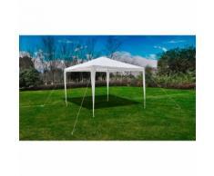 vidaXL Tonnelle Pavillon de jardin blanc 3x3m