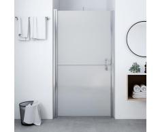 vidaXL Porte de douche Verre trempé dépoli 91x195 cm