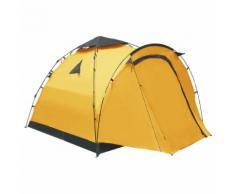 vidaXL Tente de camping escamotable 3 personnes Jaune