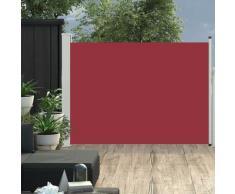 vidaXL Auvent latéral rétractable de patio 100x500 cm Rouge