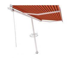 vidaXL Auvent automatique sur pied 450x300 cm Orange/marron