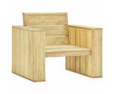 vidaXL Chaise de jardin 89x76x76 cm Bois de pin imprégné