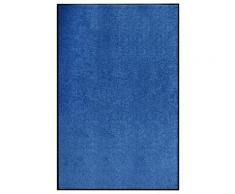 vidaXL Paillasson lavable Bleu 120x180 cm