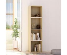 vidaXL Bibliothèque Blanc et chêne sonoma 40x30x151,5 cm Aggloméré