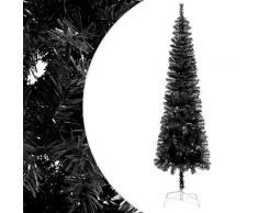 vidaXL Sapin de Noël étroit Noir 180 cm