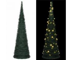 vidaXL Sapin de Noël artificiel avec guirlandes et LED Vert 150 cm