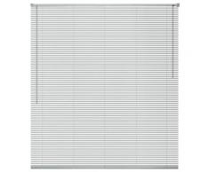 vidaXL Store Aluminium 140 x 160 cm Argenté
