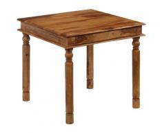 vidaXL Table de salle à manger Bois de Sesham massif 80 x 80 x 77 cm