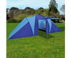 vidaXL Tente de camping pour 6 personnes Bleu marine/bleu clair