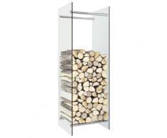 vidaXL Portant de bois de chauffage Transparent 40x35x120 cm Verre