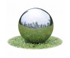 vidaXL Sphère de fontaine de jardin avec LED Acier inoxydable 30 cm
