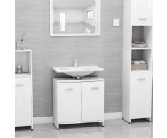 vidaXL Armoire de salle de bain Blanc 60x33x58 cm Aggloméré