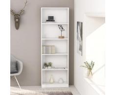 vidaXL Bibliothèque à 5 niveaux Blanc 60x24x175 cm Aggloméré