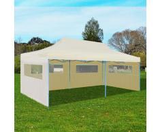 vidaXL Tente de réception pliable crème 3 x 6 m