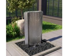 vidaXL Fontaine de jardin Argenté 60,2x37x122,1 cm Acier inoxydable
