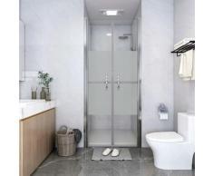 vidaXL Porte de douche ESG demi-dépoli 76x190 cm