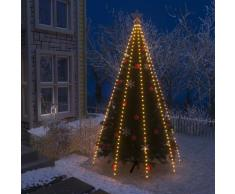 vidaXL Guirlande lumineuse filet d'arbre de Noël 400 LED IP44 400 cm