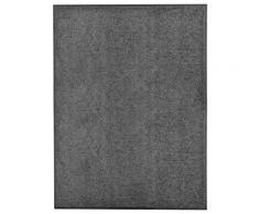 vidaXL Paillasson lavable Anthracite 90x120 cm