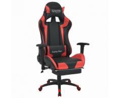 vidaXL Chaise de bureau inclinable avec repose-pied Rouge