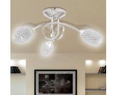 vidaXL Plafonnier abat-jour en cristal acrylique blanc 3 ampoules G9