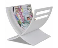 vidaXL Porte-revue en bois Blanc