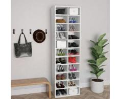 vidaXL Armoire à chaussures Blanc 54 x 34 x 183 cm Aggloméré