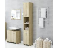 vidaXL Armoire de salle de bain Chêne sonoma 30x30x183,5 cm Aggloméré