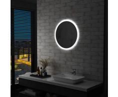 vidaXL Miroir à LED pour salle de bain 60 cm