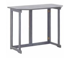 vidaXL Table pliable de balcon 90x50x74 cm Bois d'acacia massif