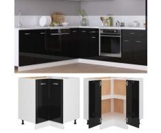 vidaXL Armoire d'angle Noir brillant 75,5x75,5x80,5 cm Aggloméré