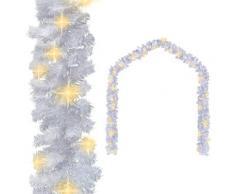 vidaXL Guirlande de Noël avec lumières LED 10 m Blanc