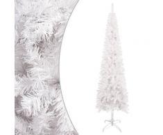 vidaXL Sapin de Noël étroit Blanc 240 cm