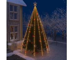 vidaXL Guirlande lumineuse filet d'arbre de Noël 500 LED IP44 500 cm