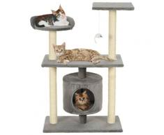 vidaXL Arbre à chat avec griffoirs en sisal 95 cm Gris