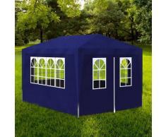 vidaXL Tente de réception 3 x 4 m Bleu